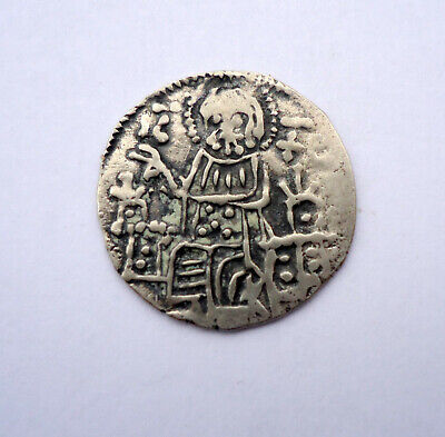 Old Medieval  Silver Coin  #57
