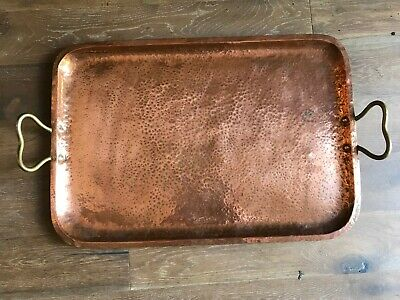 Arts & Crafts extra large copper tray