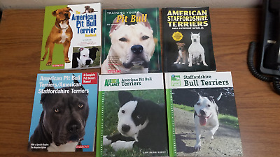 TFH/Barron's American/ Staffordshire Pit Bull Terriers Dog Books 6 books or All