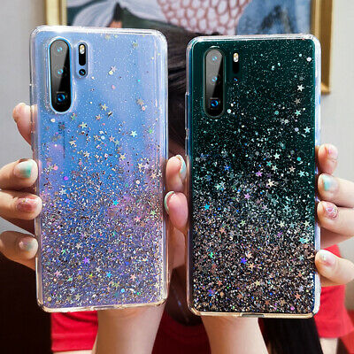 For Huawei P30 Pro P30Lite ShockProof Soft Phone Cover Glitter Silicone Gel Case