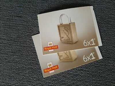 Royal Mail Set of 2 Books of 6 1st Class Letter Stamps Self Adhesive New&Unused