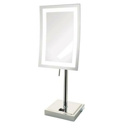 Jerdon 6.5 in. x 17 in. LED Lighted Table Makeup Mirror