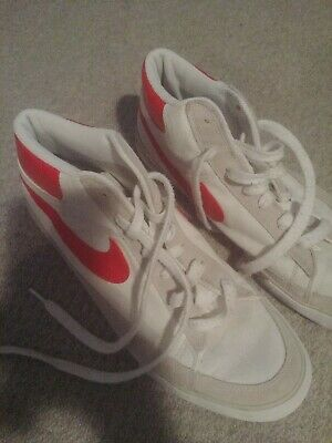 Nike Break Blazer Retro Mens Retro Street trainers Leather Red/White UK 9 EU44