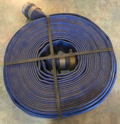 "1-1/2"" x 50' Trash Pump Discharge Hose w/ Fittings"