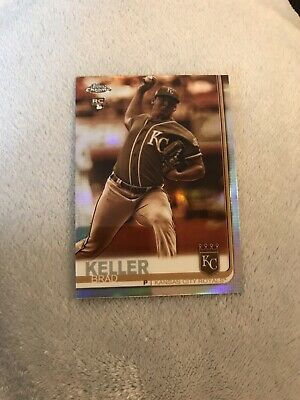2019 Topps Chrome Sepia & Pink Refractor (Lot of 2) Brad Keller RC #54 - Royals