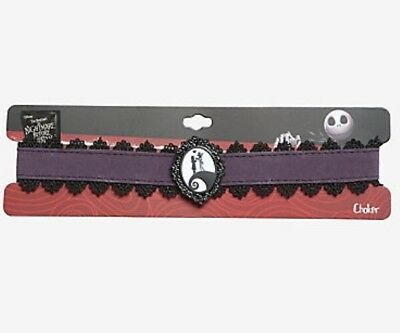 Disney The Nightmare Before Christmas Jack & Sally Cameo Choker Necklace