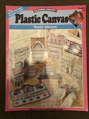 California Country Plastic Canvas Mainly Kitchen