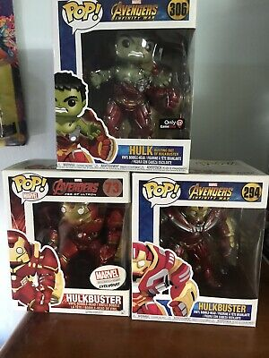 Funko Pop!! Hulkbusters Lot Of 3  GameStop Exclusive & More See Pic's