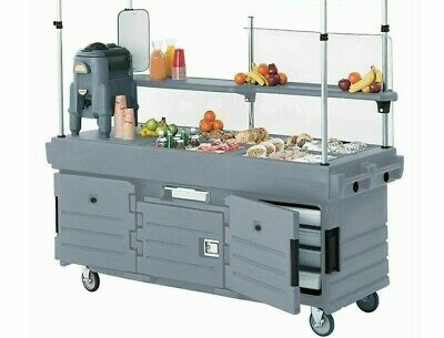 CAMBRO CamKiosk Portable Salad bar, Food Serving Station, Catering w wheels