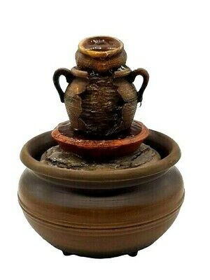 Tranquillity Fountain Cordless Pottery Soothing Sound Of Water Indoor Tabletop