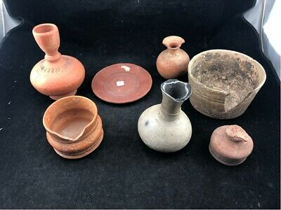 Lot Of Early Antique Clay Pottery From A Museum As Found