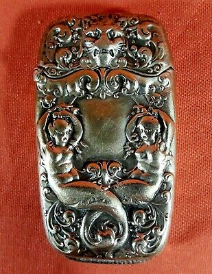 Gorham Sterling Silver Vesta Match Safe Mermaid Lion Head