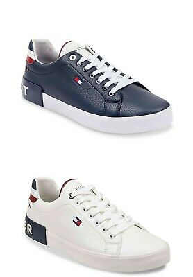 New Tommy Hilfiger Men/'s Rance Casual Lace-Up Fashion Sneakers Shoes White//Navy