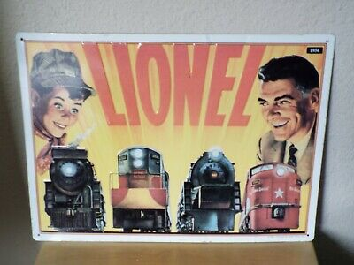 1993 LIONEL TRAIN 1954 Catalog Cover Reproduction Embossed Tin Sign