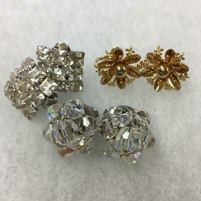 Vintage Antique Estate Retro Lot of 3 Large Screw Back or Clip-On Earrings