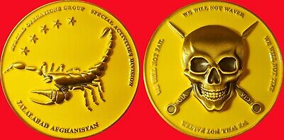 """Cia Special Operations Group Jalalabad Afghanistan  Challenge Coin 2"""" 42"""