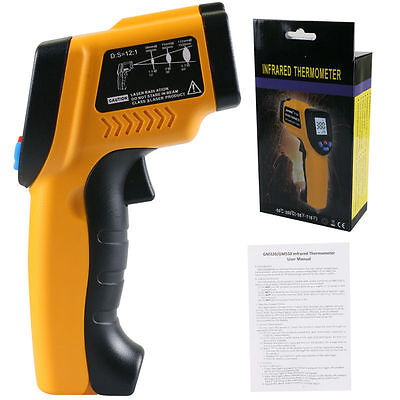 New IT100 Non-Contact LCD IR Laser Infrared Digital Temperature Thermometer Gun