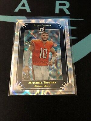 2019 Donruss Mitch Trubisky Elite Series Chicago Bears #25 NFL