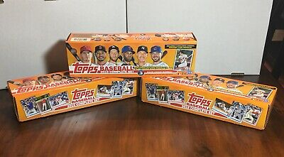 3 2019 Topps Complete 1-700 Sets Series 1 & Series 2 No SP Cards Or Chrome Cards