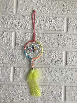 Handmade Colorful Metal Mini-Dream Catcher for Cars or Home Interior