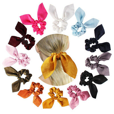 Women Bow Scrunchie Elastic Hair Band Hair Ropes Girls Hair Ties Ponytail Holder