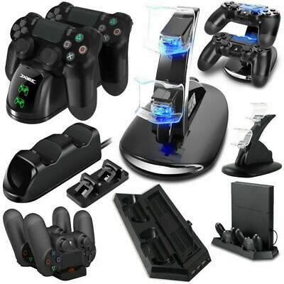 For PlayStation PS4 Slim USB Controller LED Charger Dock Station Charging Stand