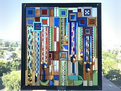 """Frank Lloyd Wright Collection Metal Stained Glass 12"""" x 11"""""""