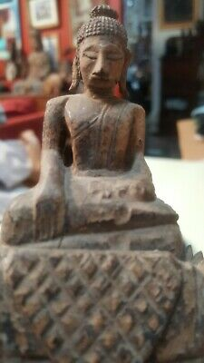 Very Old Antique Hand Carved Wood Buddha Figure Statue (Museum Quality) BH Est.