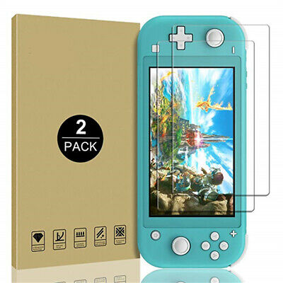 2 Pack For Nintendo Switch Lite 9H Tempered Glass Screen Protector Guard Film US