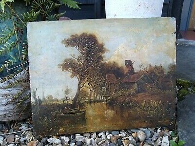 Late 18th Early 19th Century Oil Painting On Board