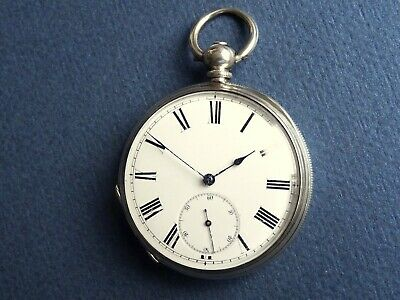 Beautiful Solid Silver Gents  Pocket Watch. J Aitchison Edinburgh c1870 Antique