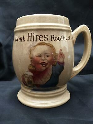 antique VILLEROY & BOCH METTLACH DRINK HIRES ROOTBEER Root beer MUG GERMANY 3095