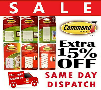 3M Comand Strips Adhesive Picture Poster Hanging Damage Free Wall Decorations