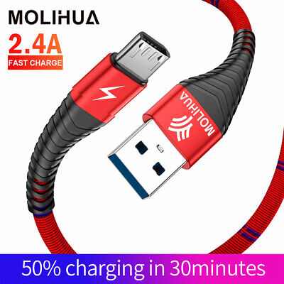 1M 2M Braided Long Micro USB Data Sync Charger Cable Lead For Samsung Android UK