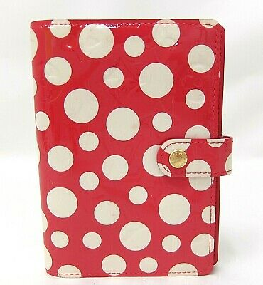 Auth LOUIS VUITTON Monogram Vernis DOT YAYOI KUSAMA Agenda Red M91518 Spain