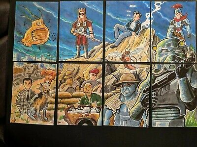 Fallout aceo PSC Trading Set by Piablo Diaz