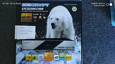 ICECRYPT STC3220CCIHD Terrestrial and Satellite receiver PVR READY (New)