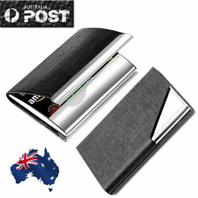 Pocket Stainless Steel & Metal Business Card Holder Case ID Credit Wallet  2019