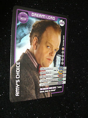 Doctor Who Monster Invasion Trading Card:#106:Dream Lord (Toby Jones):Rare!