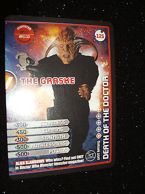Doctor Who Monster Invasion Trading Card #125:The Graske (Jimmy Vee):Rare!