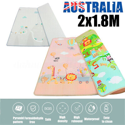 200x180cm Crawling Thick Play Mat Game Rug Children Baby Carpet Floorcover Mat