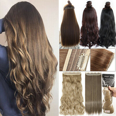 ON CLEARANCE Clip in 100% Real Natural as Human Hair Extensions 1Pcs Long THICK