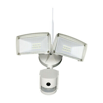 Smart WiFi Twin PIR LED Floodlight With PIR & IP Camera Outdoor Garden Security