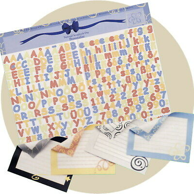 Creative Memories ABC/123 Mini Sassy Letters & Journal Boxes Personalize NSD2005