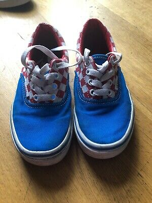 Vans shoes size 13 blue red good condition