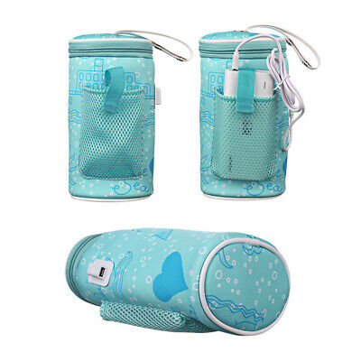 Portable USB Baby Bottle Warmer Heater Bag Travel Milk Feeding Thermostat Pouch