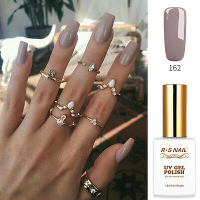2018 RS Gel Nail Polish UV LED Varnish Soak Off Grey 0.5oz 061