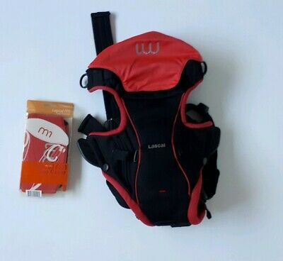 Lascal M1 Baby Carrier Papoose Red & Black