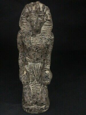 Rare Ancient Egyptian  Seated Granite Ramses II (1336 Bc-1324)
