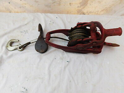 WYETH-SCOTT NEWARK OHIO 2 TON MORE POWER PULLER Come Along Fence Cable Ratchet U